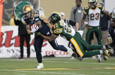 Action Blue Bombers Football Photos