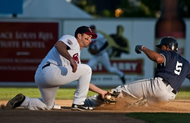 Goldeyes Baseball Action Photo